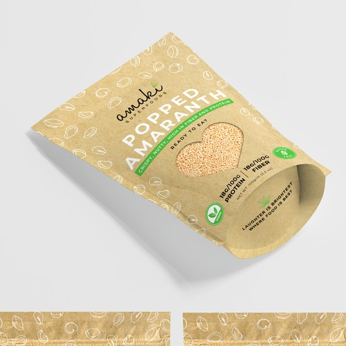Stand-up Pouch for a natural, healthy, superfood brand