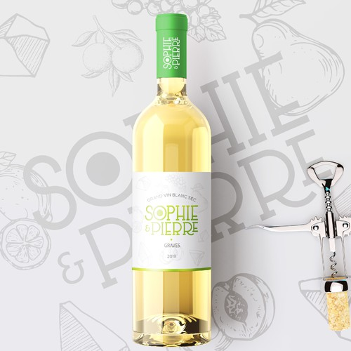 Wine Label concept for Sophie & Pierre