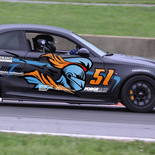 BMW 1M - Racecar wrap for SEMA show