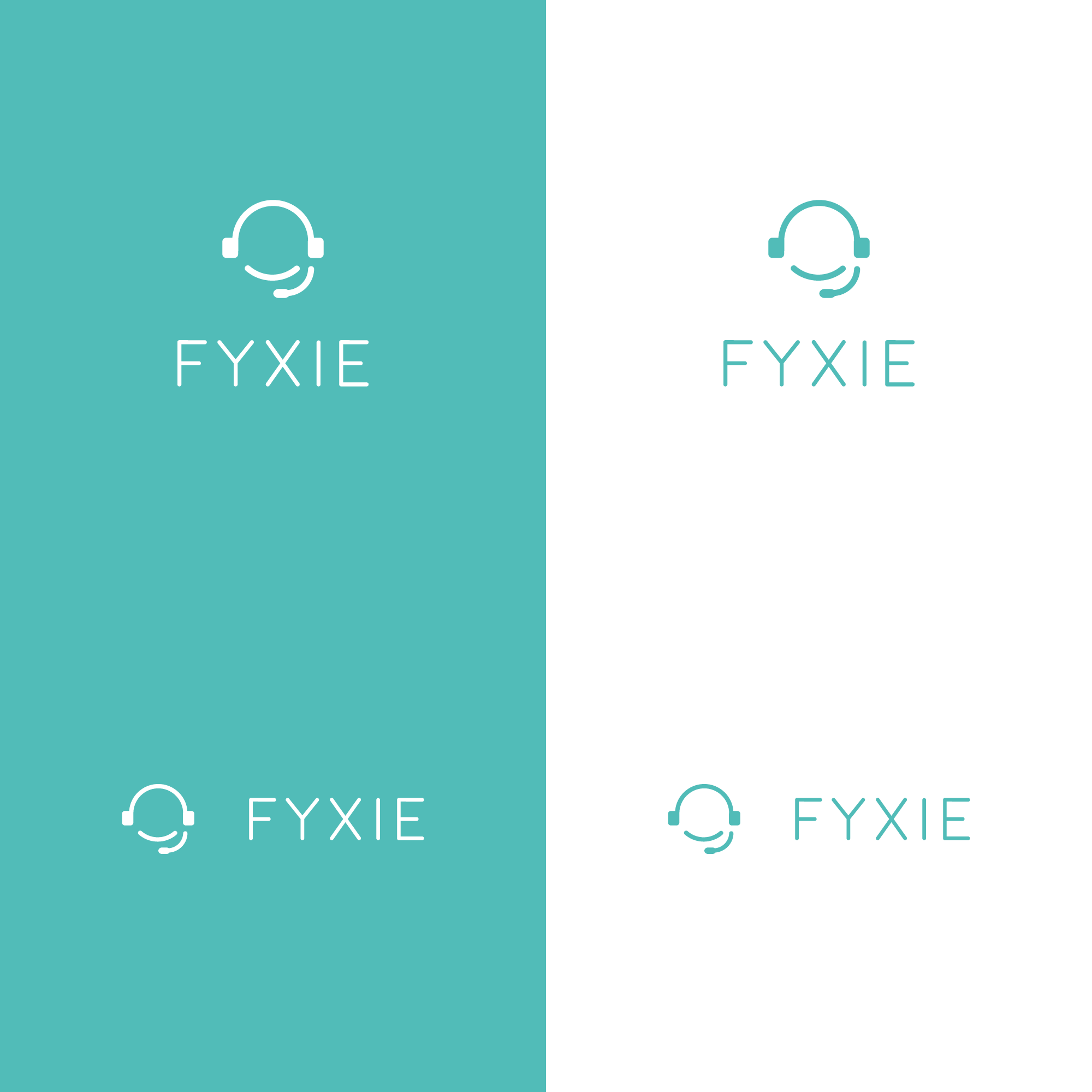 New logo for a technical support company named Fyxie. Simple and clean.