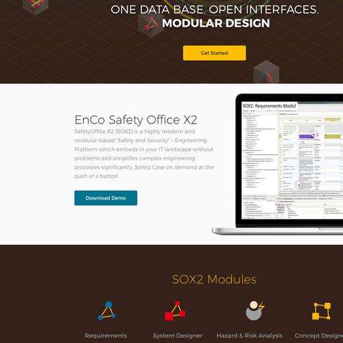 Website design for a software company
