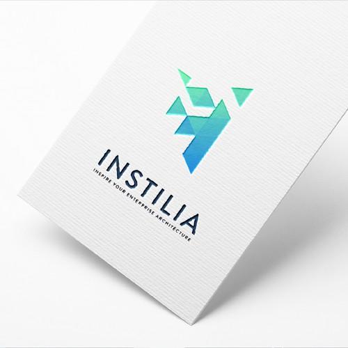 Instilia logo design