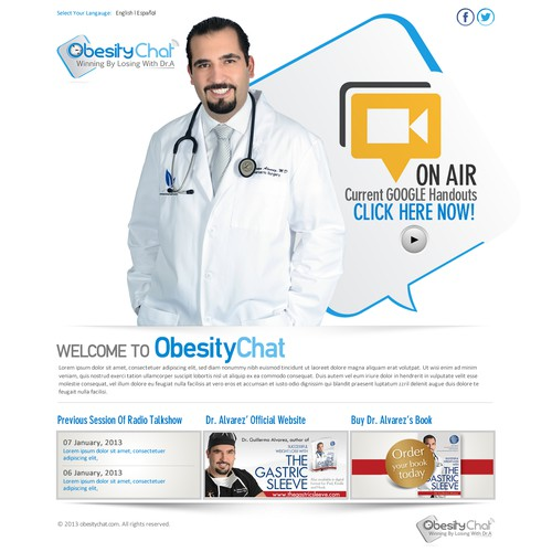 ObesityChat.com Redesign