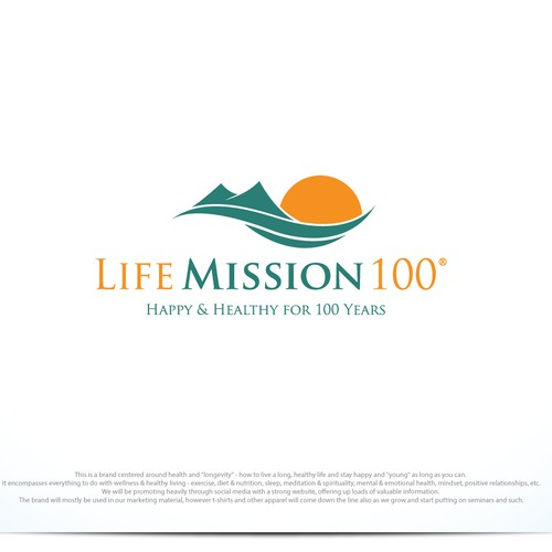 Bold logo concept for Life Mission 100