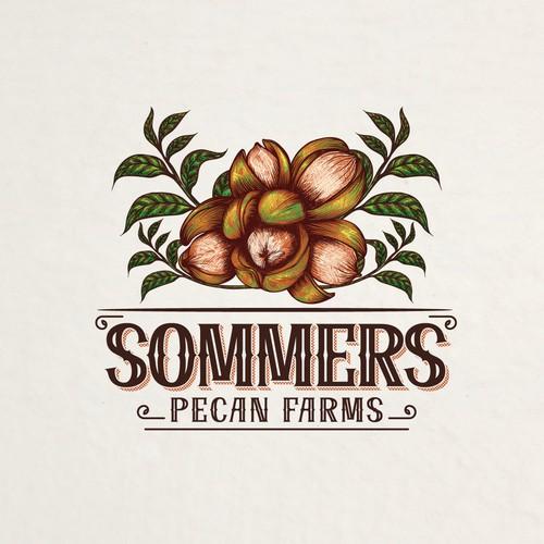 Vintage artistic logo design for farms
