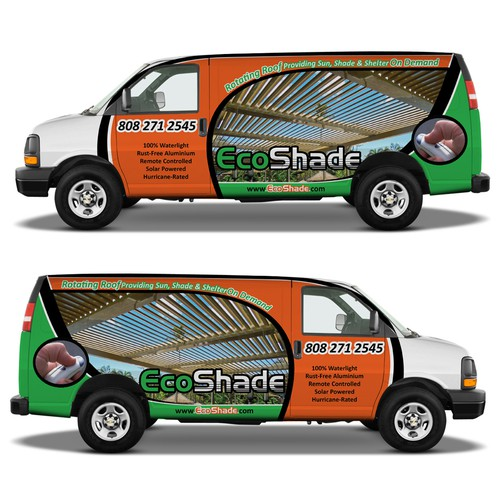 Design a Van Wrap for EcoShade in Hawaii!
