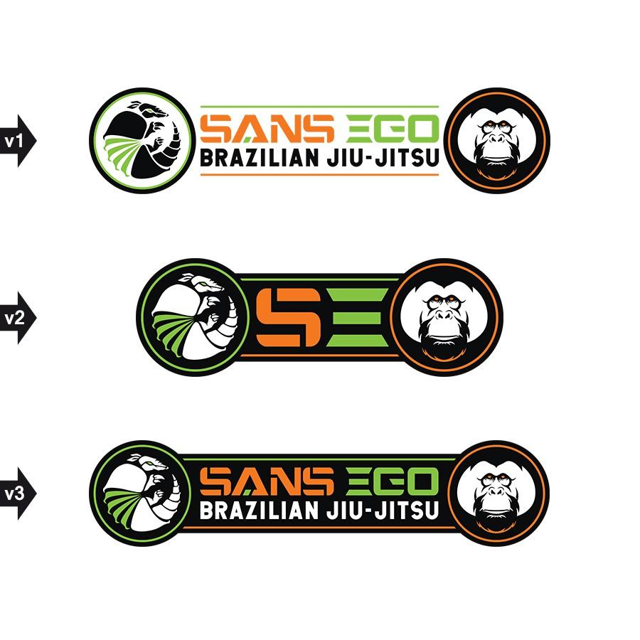 Sans Ego Brazilian Jiu Jitsu  Rectangular Patch / Circular Patch/ Web page banner/T-shirt/ Sign