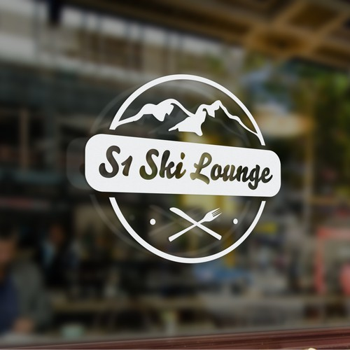 Logo for restaurant in the mountains