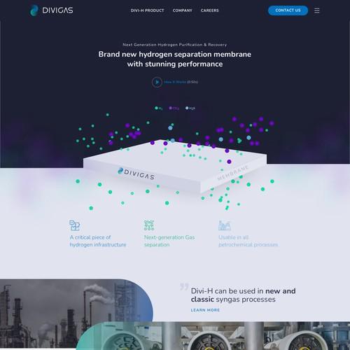 Modern Website Design for Industrial/Hydrogen Startup: UX, UI, and Custom Graphics
