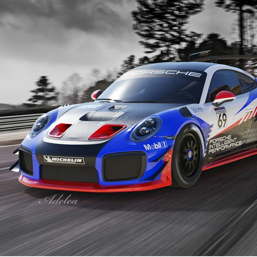 PORSCHE GT2RS Clubsport livery design