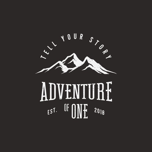 concept logo for adventure of one