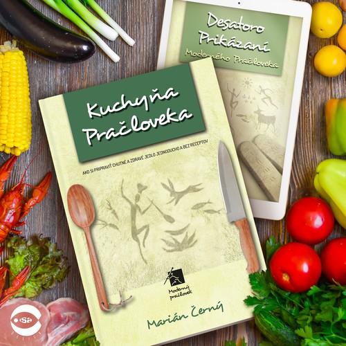 """Book covers for """"Moderný Pračlovek"""" series (Modern Caveman) by Marián Černý"""