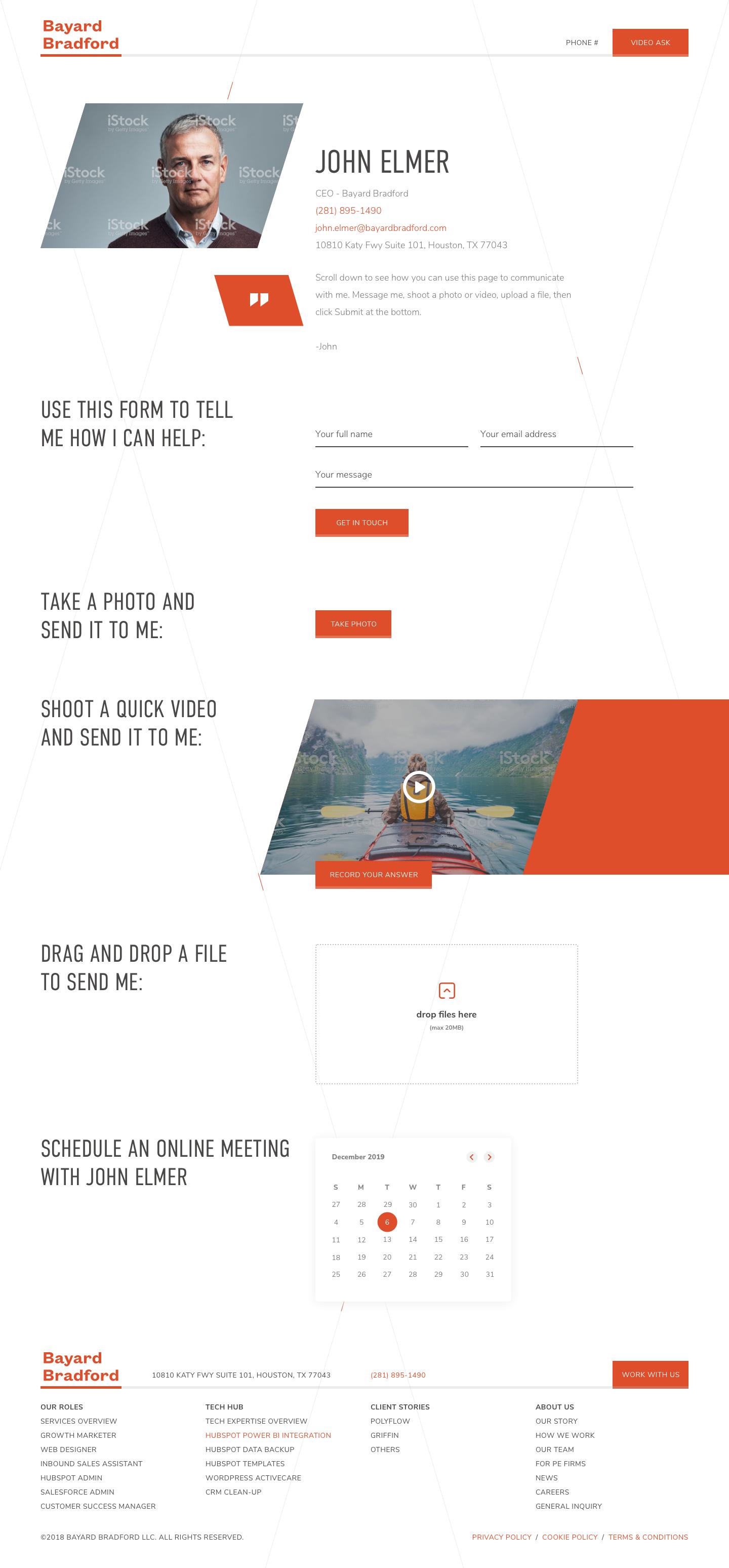 Bayard - White Label - Salesperson Profile Page
