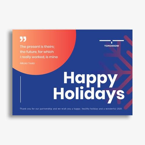 Tomorrow Holidays Card 1