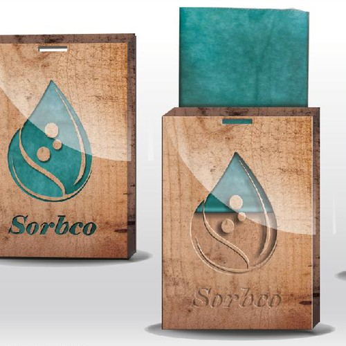 Packaging design for water absorbing cloth for wooden surfaces