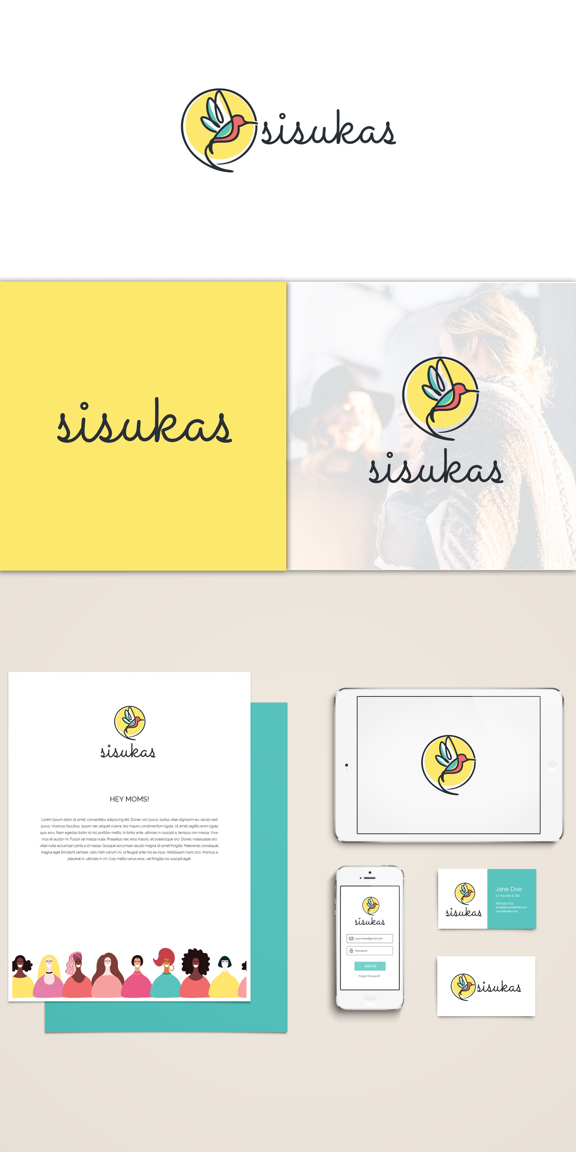 Create a logo to evoke resilience in motherhood for a startup