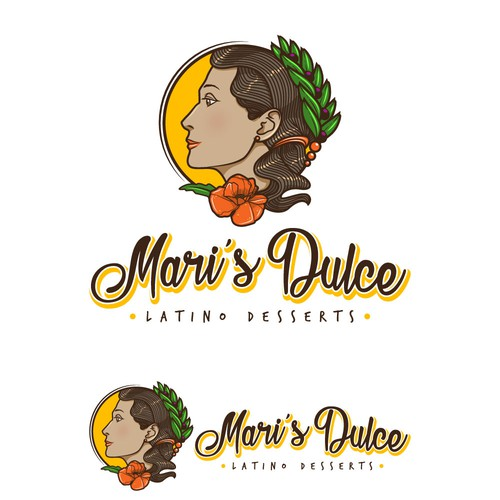 Logo for latino desserts store.