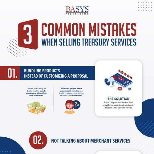 3 Common Mistakes When Selling Treasury Services - Infographic