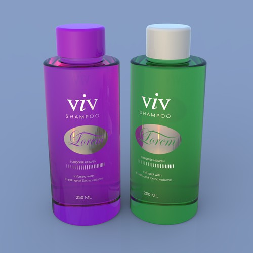 VIV shampoo label