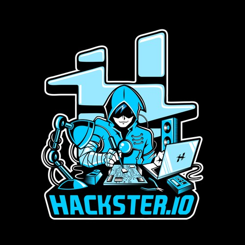 Cool illustration for Hackster.io T-shirt