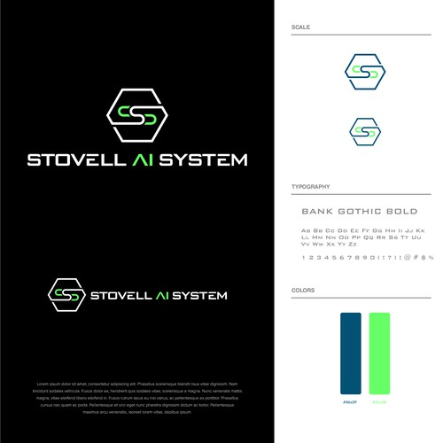 Technology concept logo for Stovell Ai System