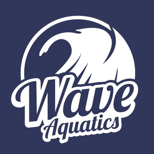 A logo for aquatics programs for a competitive swim team