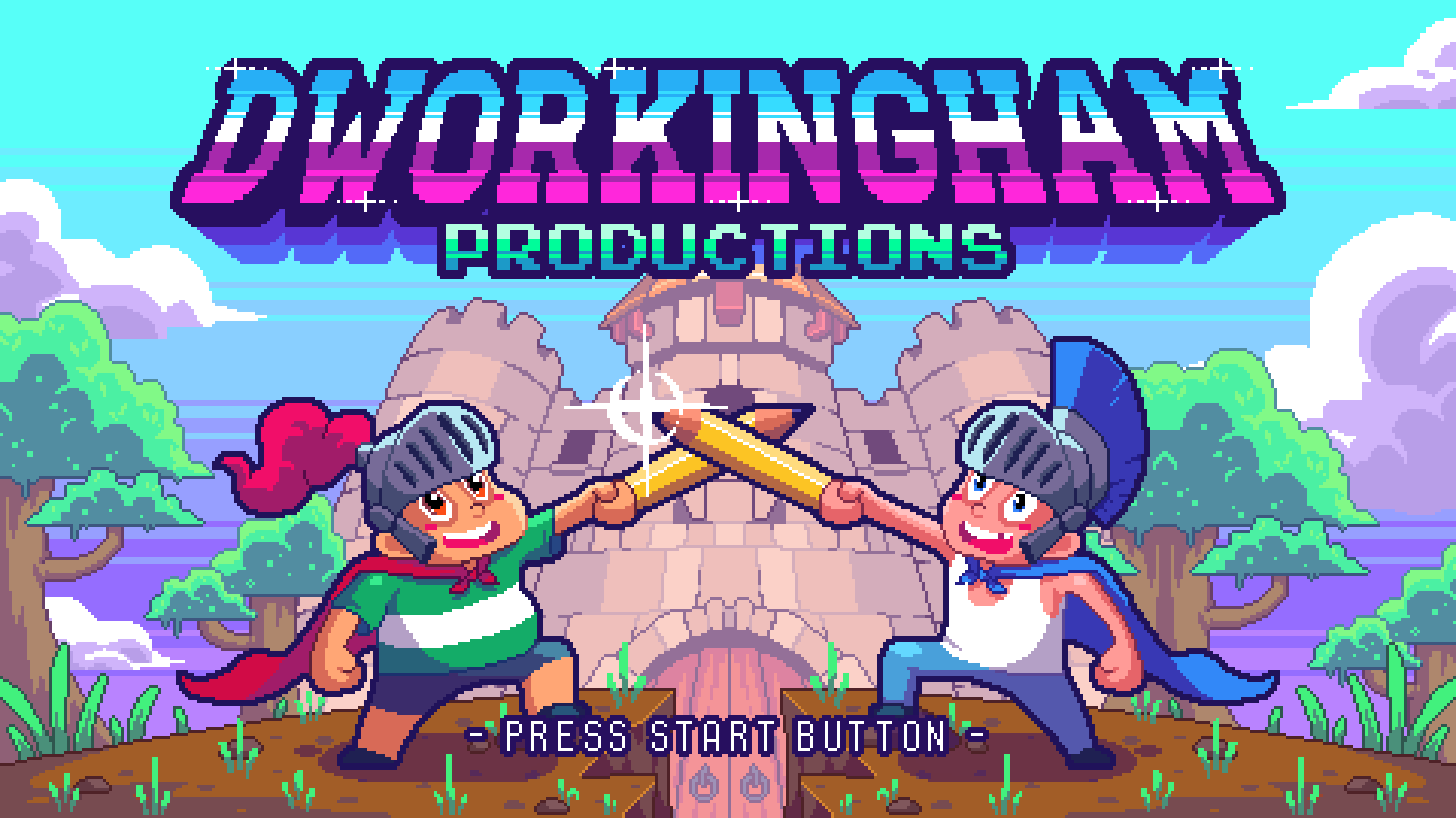 Production Company title logo ('80's style)