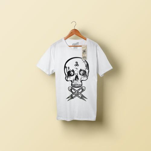 hipster skull shirt