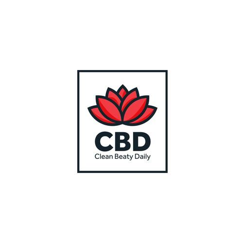 CBD logo, skincare product.