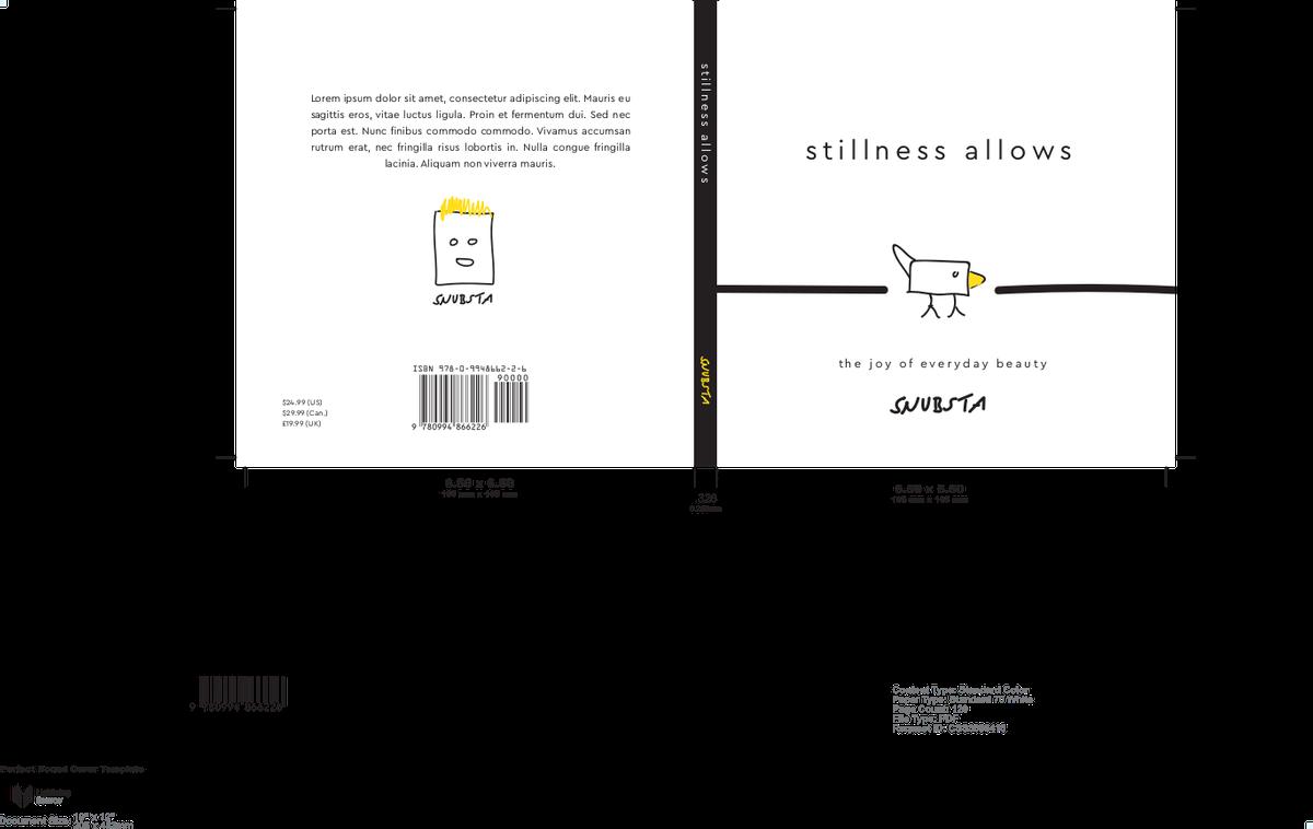 Book interior template and cover design