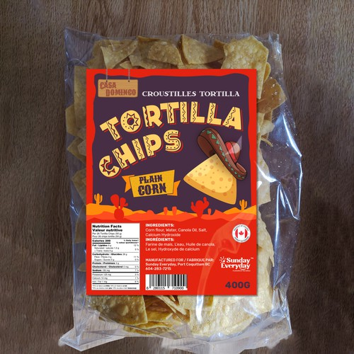 New Lable for Tortilla Chips