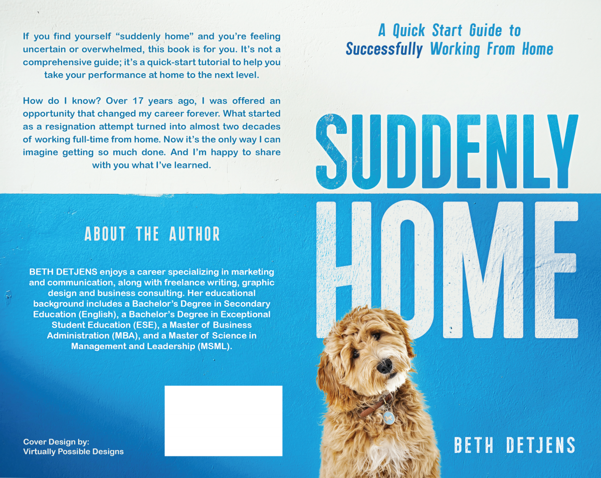 Book cover design for a self-help book on working from home successfully