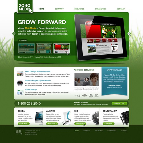 'Green' kind of Website for Digital Company