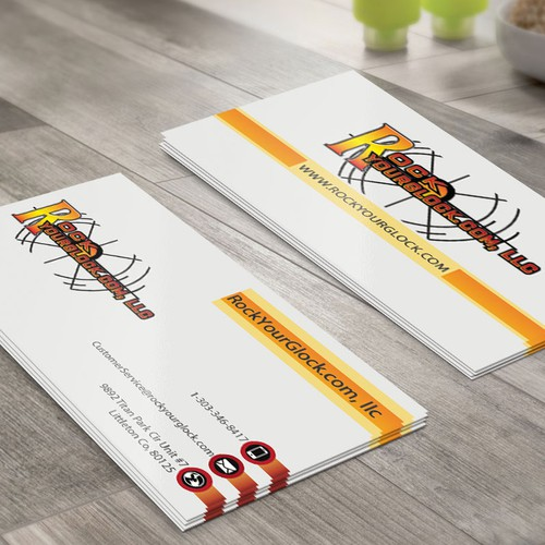 business card for a fun sporting company