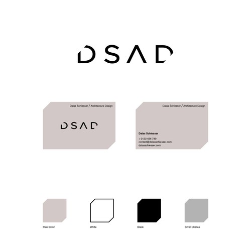 Minimal, geometric and strong logo design and business card for DSAD