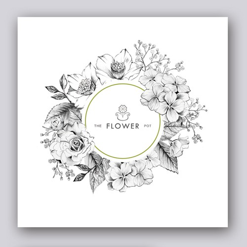Flower Illustration for The Flower Pot's Card