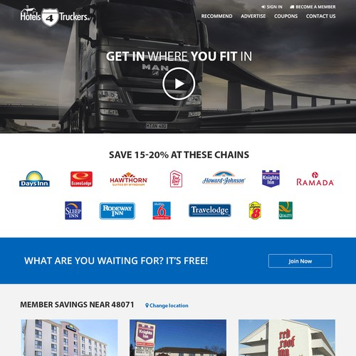 Revamp homepage of -company removed-