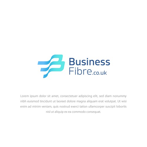 B+F logotype concept for Business Fibre