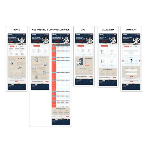 Dee Host website design