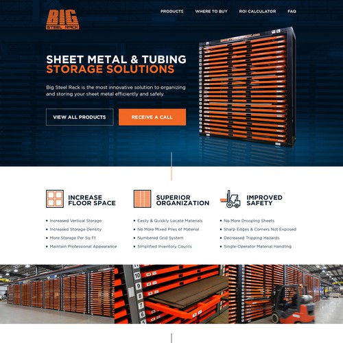 Web Design for BIG Steel Rack