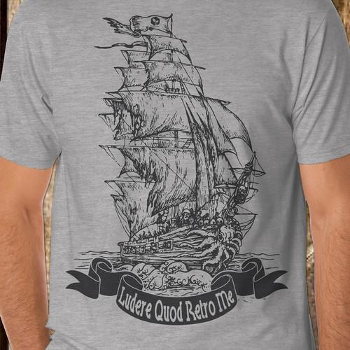 Pirates Ship Illustration