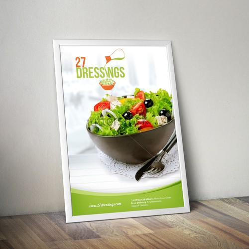 Create A Custom Poster For 27 Dressings, A Health Food Eatery