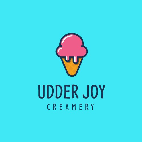 Fun logo for Udder Joy Cremery