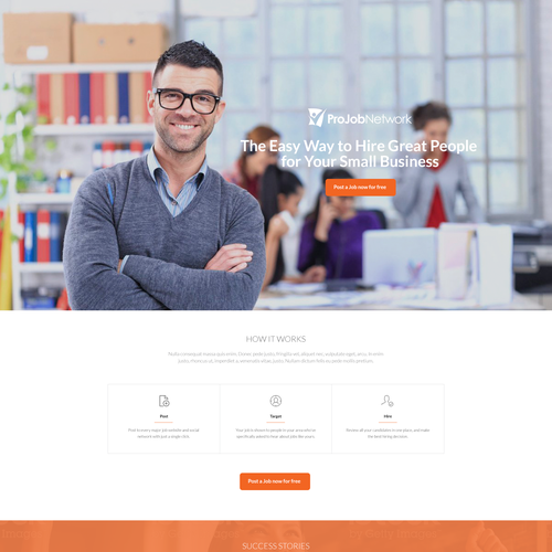 Landing Page for Projobnetwork