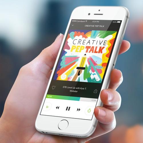 Mobile App design for Podcast App