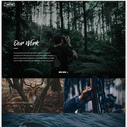 Simplistic Dark Website Design for Video Production Company
