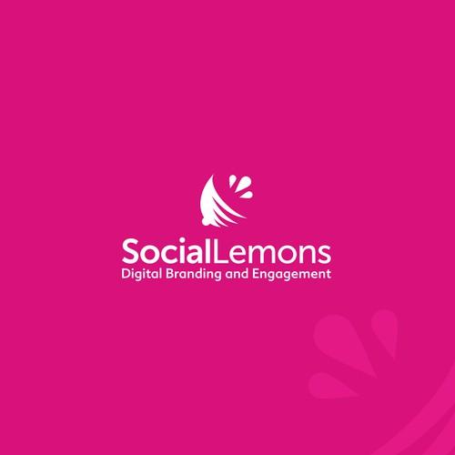 Playful logo for creative social media agency: Social Lemons