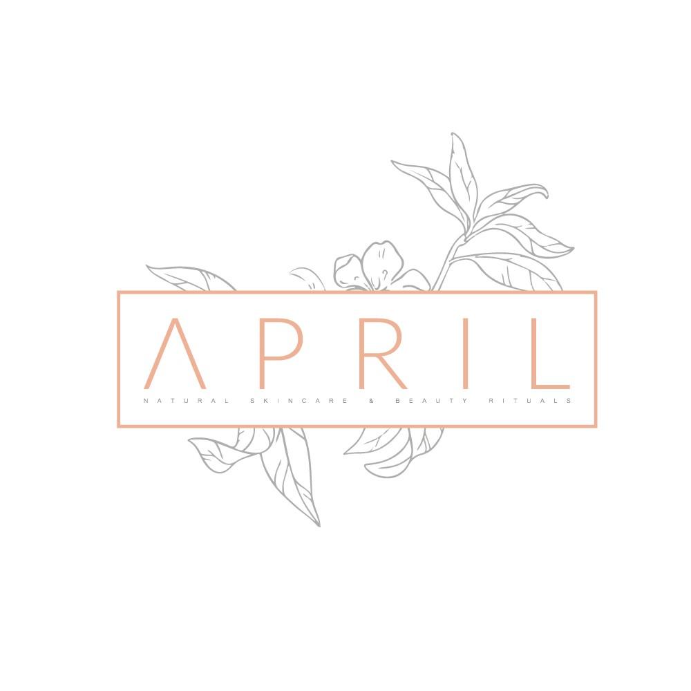 Erstelle ein trendy Naturkosmetiklogo für april
