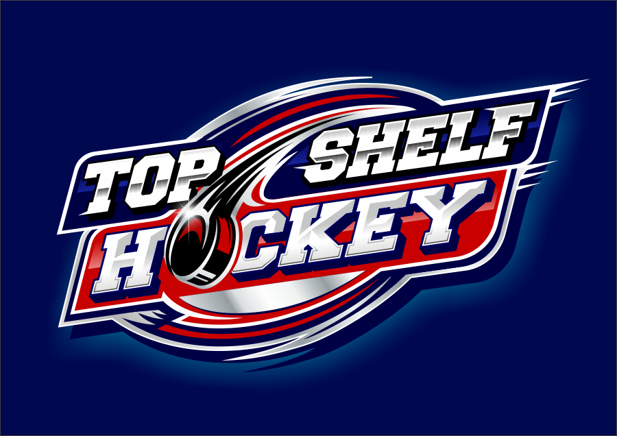 TOP SHELF HOCKEY- LOGO DESIGN-  We sell Hockey Tape, Hockey Laces, Hockey Pucks and More!