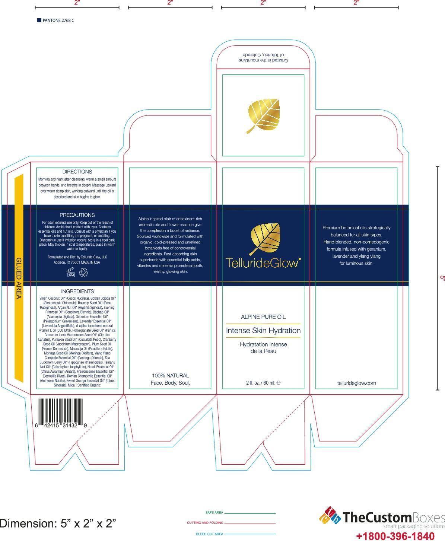 Box for TellurideGlow's Alpine Pure Oil